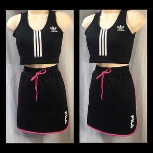 Black Fila sports/casual wear skirt